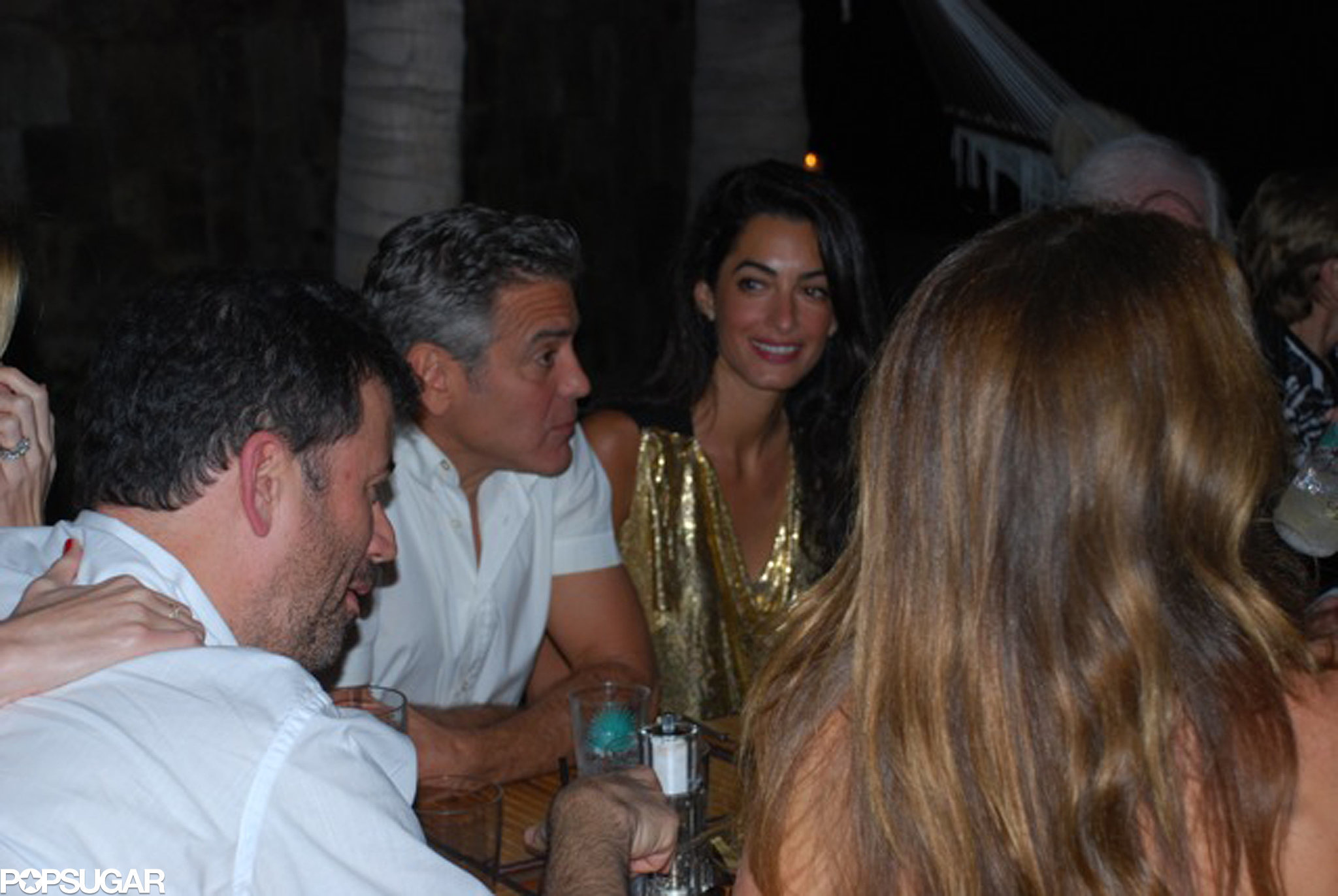 The two had a group dinner with friends during their trip to Africa in March 2014.