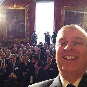 Prince Andrew, Duke of York, Tweets a Selfie
