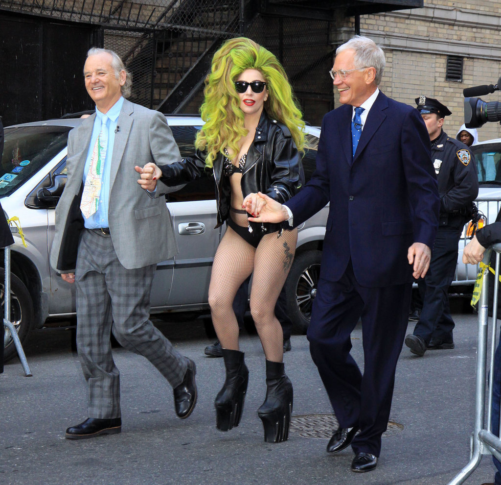 Lady Gaga was assisted by David Letterman and Bill Murray wh
