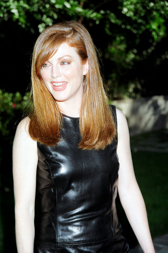 Julianne Moore sported some giant hoop earrings.