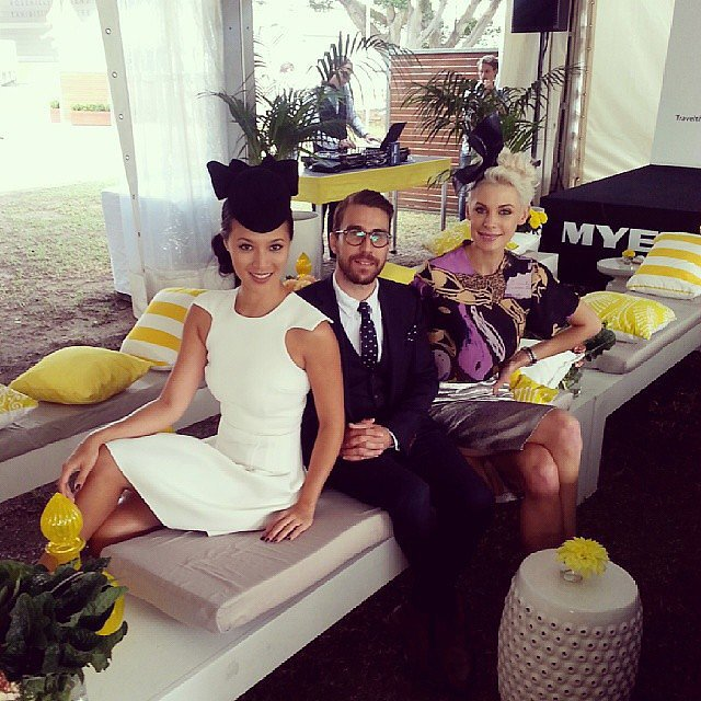 Menswear designer Brent Wilson was flanked by his fellow judges Grace and Kate. Source: Instagram user katepeckme