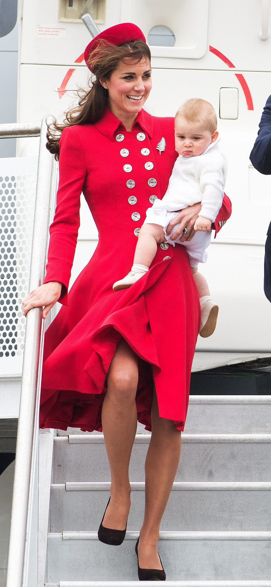 Kate's Red-and-Black Look