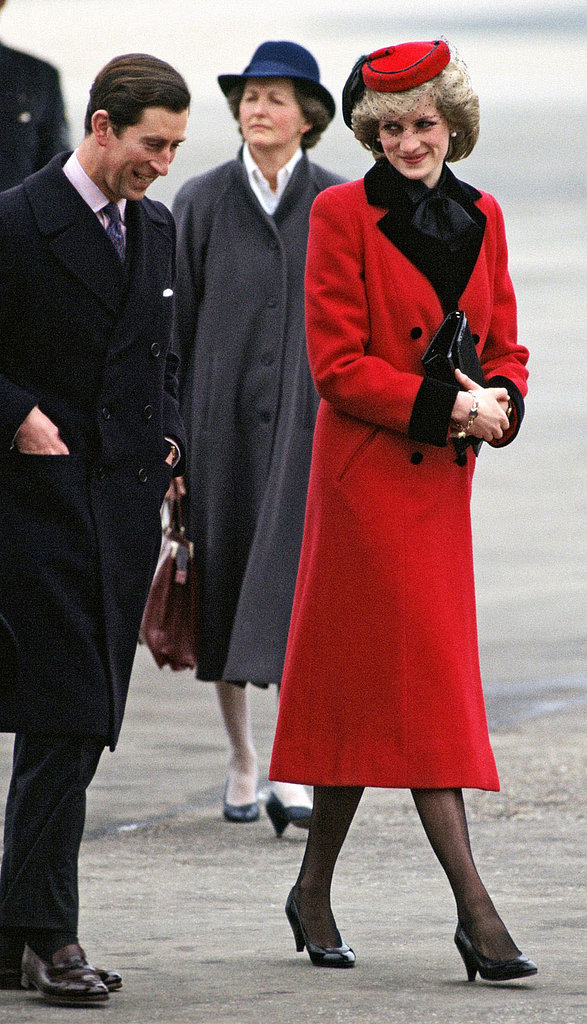 Princess Diana's Red-and-Black Outfit