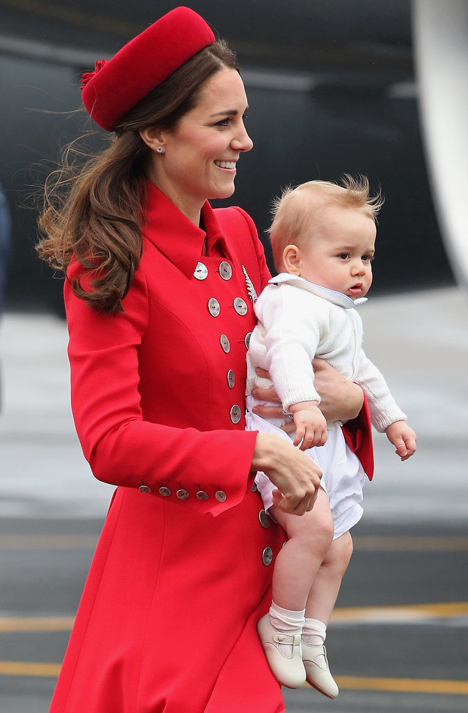 On April 7, 2014, George got his first taste of royal duties when he landed in New Zealand with his mom and dad to begin the family's official tour of New Zealand and Australia.