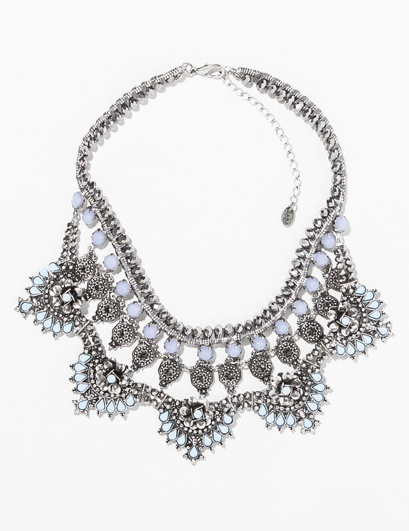 Zara silver and moonstone bib necklace ($40)
