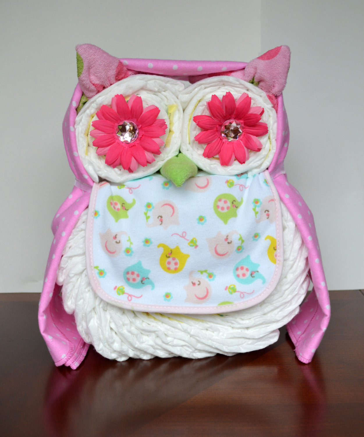 owl diaper cake it 39 s not a baby shower without a diaper cake