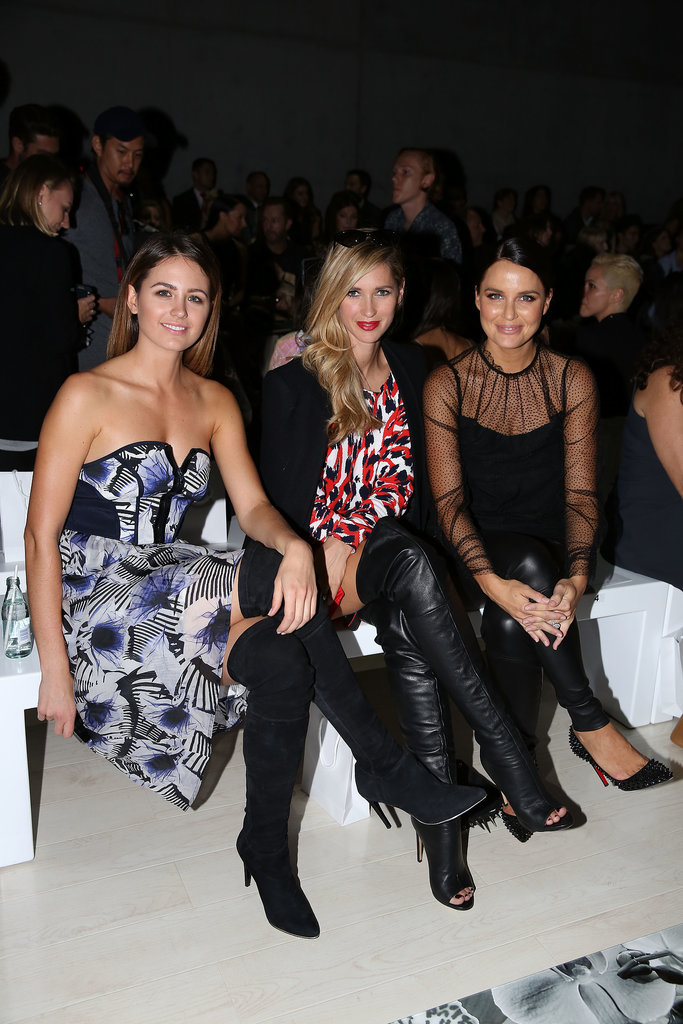Jesinta Campbell, Nikki Phillips and Jodi Anasta at MBFWA Day Three