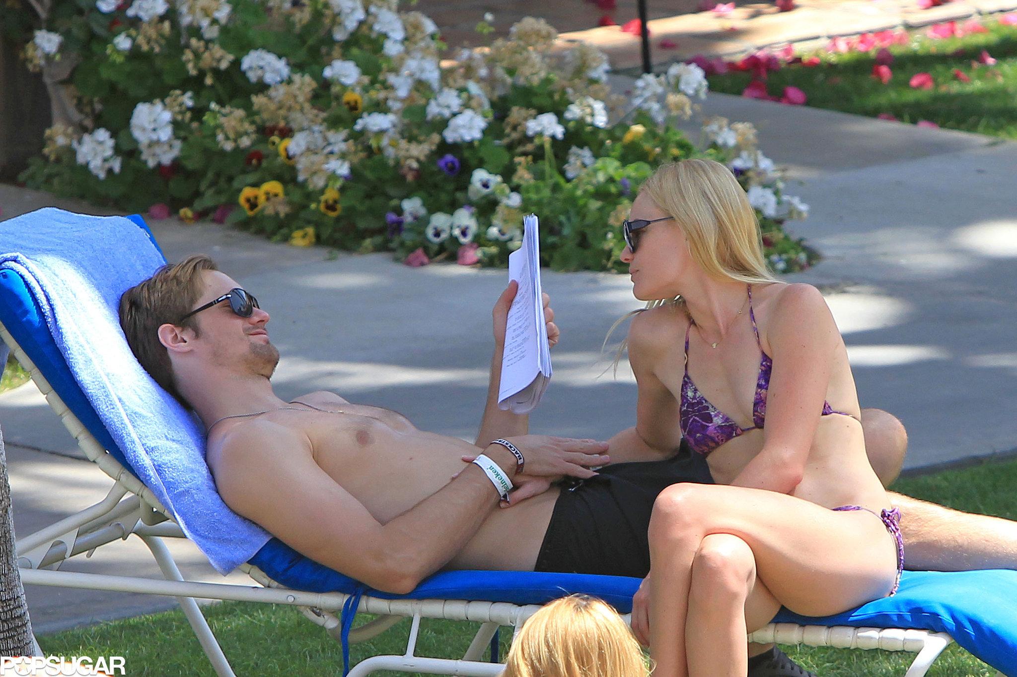 Kate Bosworth lounged in a bikini with boyfriend Alexander Skarsgard in 2010.