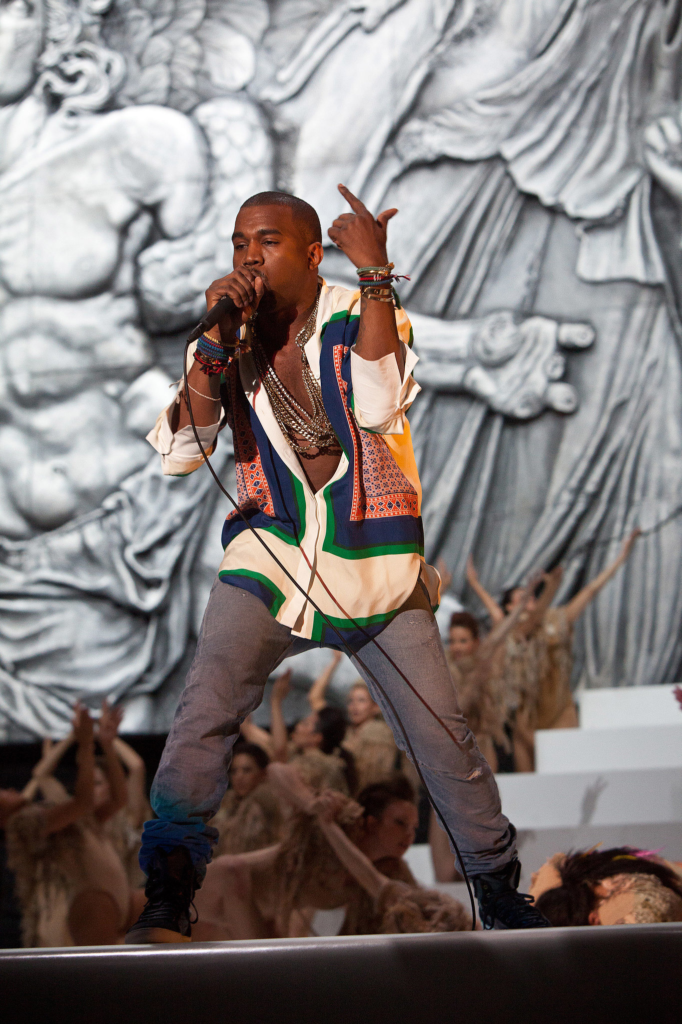Kanye West took the stage at Coachella in 2011.