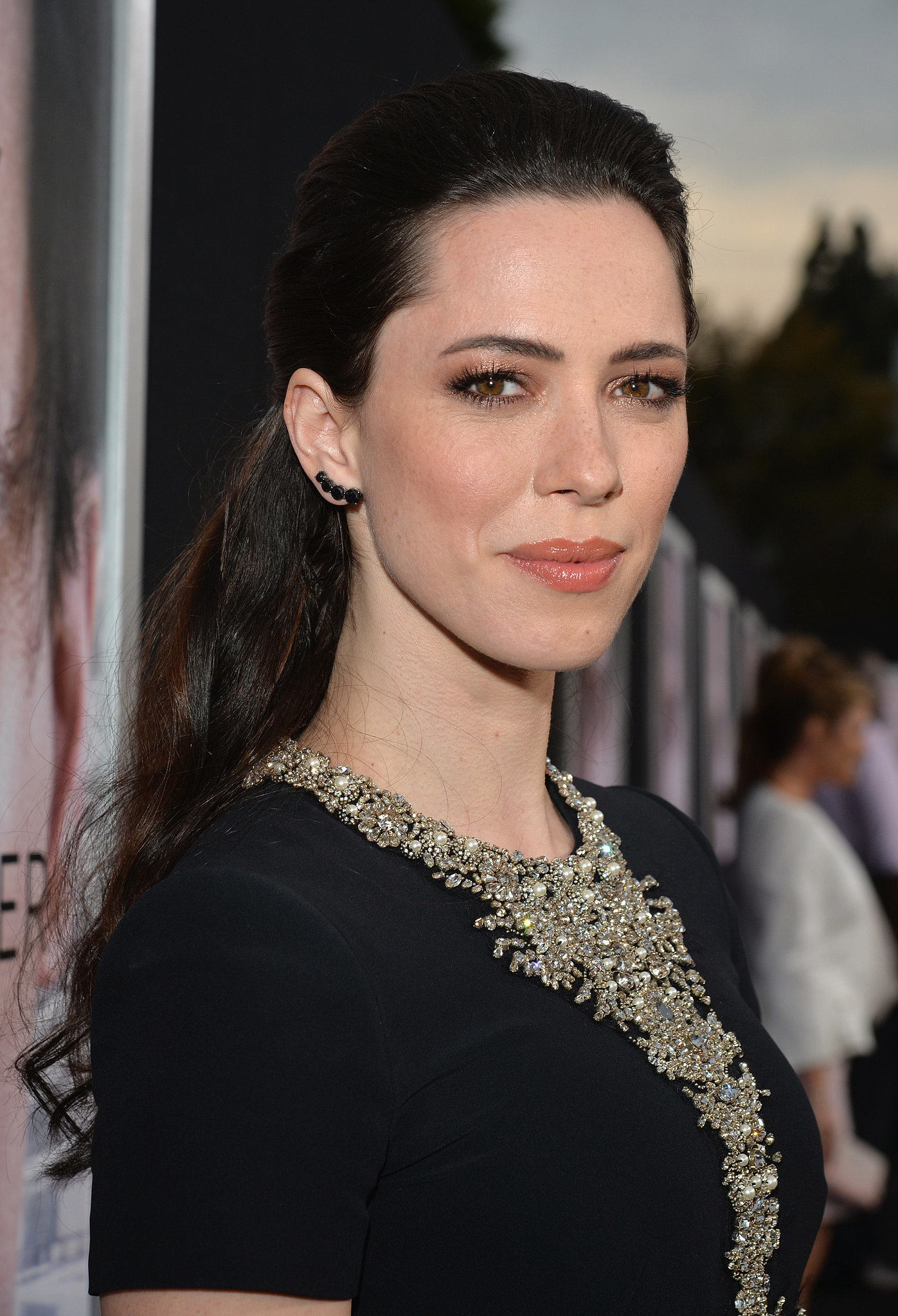 Rebecca Hall was fresh-faced for the premiere.