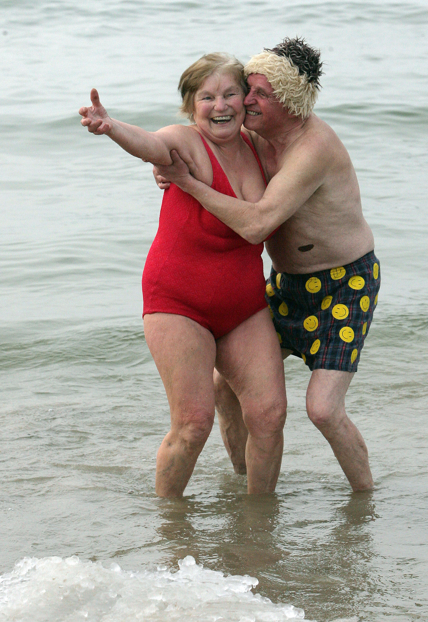 Elderly Couple Having a Great Time