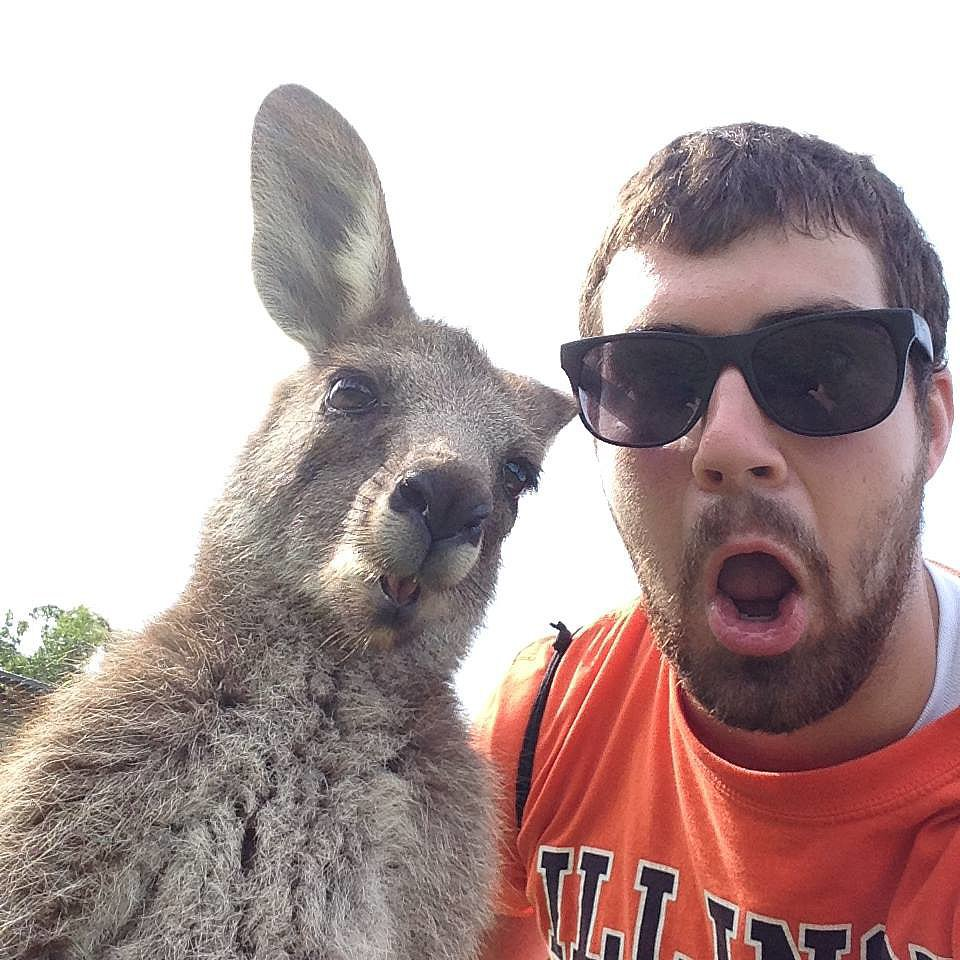 """Friend sent me this selfie from Australia."" Source:"