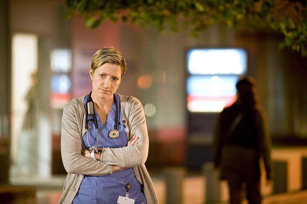 Falco has won rave reviews again for Nurse Jackie, in which she plays title character Jackie Peyton, a pill-poppin' nurse who can barely keep it together.