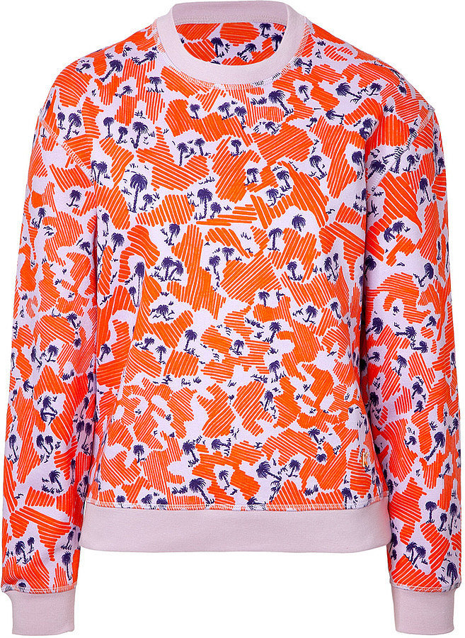 Kenzo Cotton Palm Print Sweatshirt