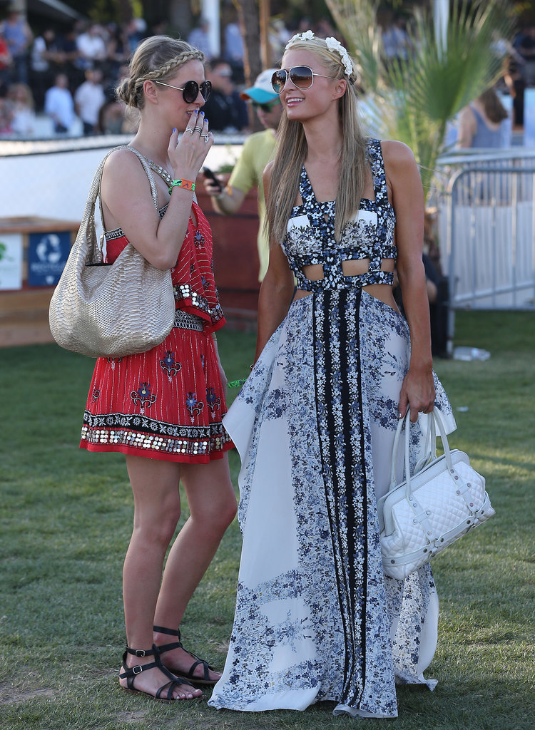 Nicky and Paris Hilton brought their sisterly love to the festival.
