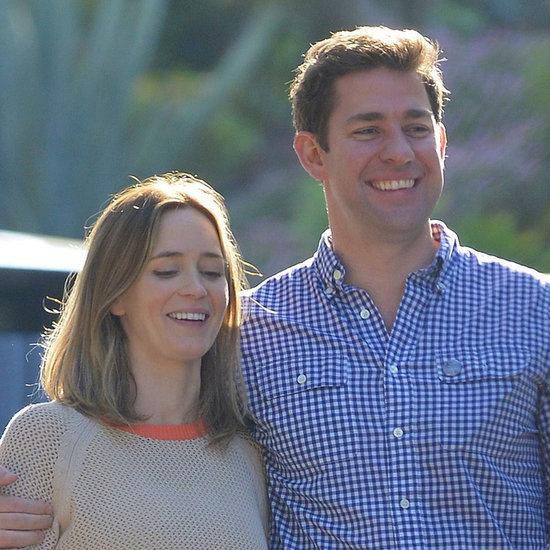 Emily Blunt and John Krasinski Smiling in LA