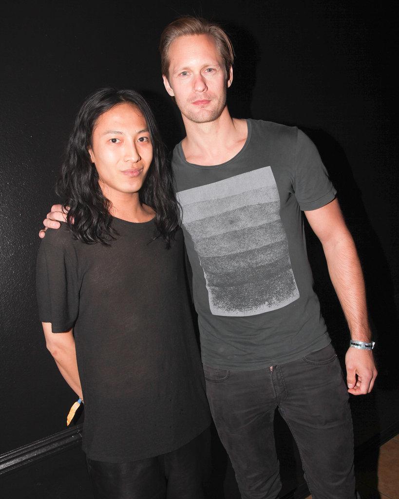 Alexander Skarsgard and Alexander Wang posed.