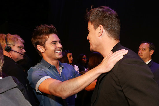 There was a hot guy moment between Zac Efron and Channing Tatum.