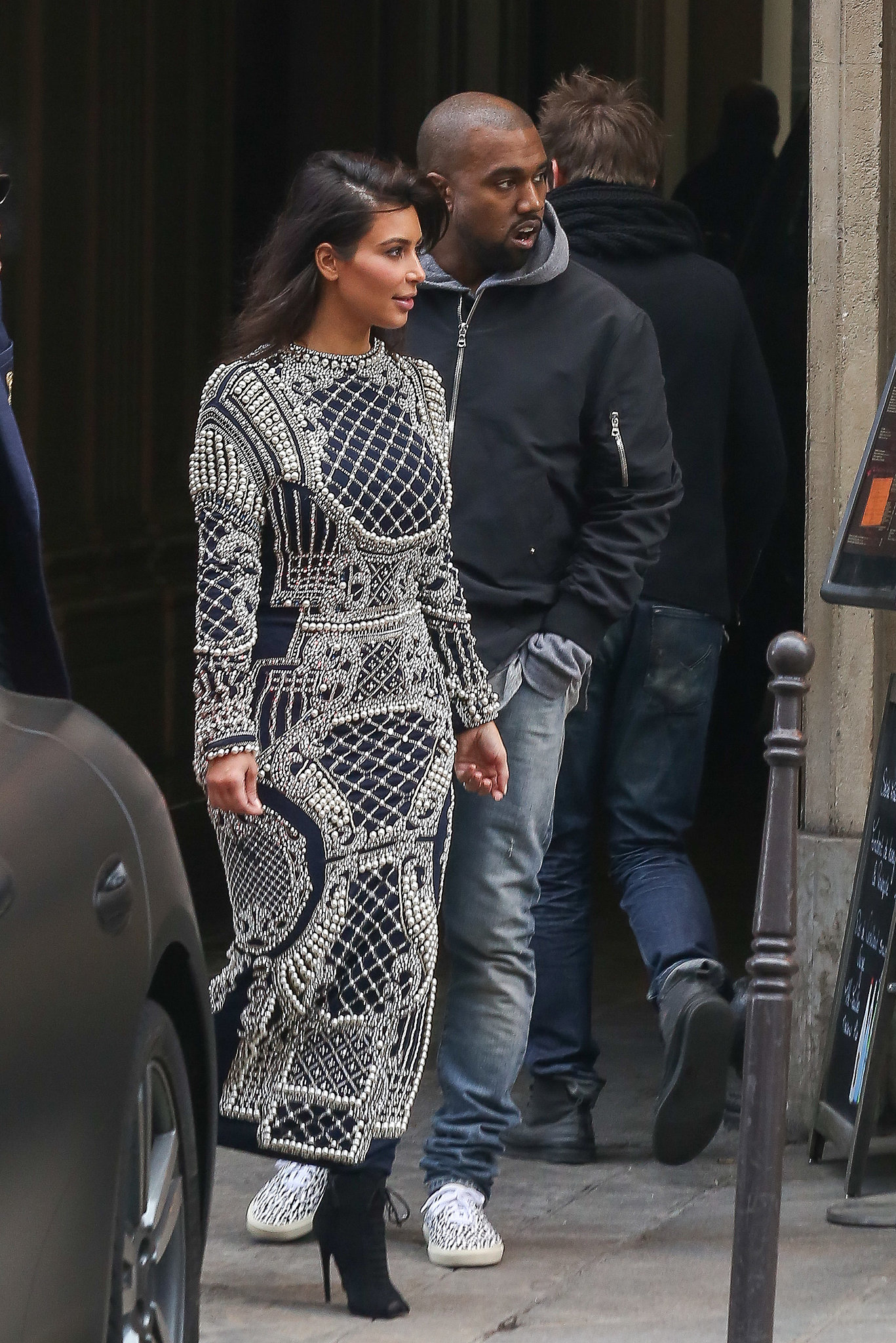 Kanye Simply Can't Hide His Smile Around Kim