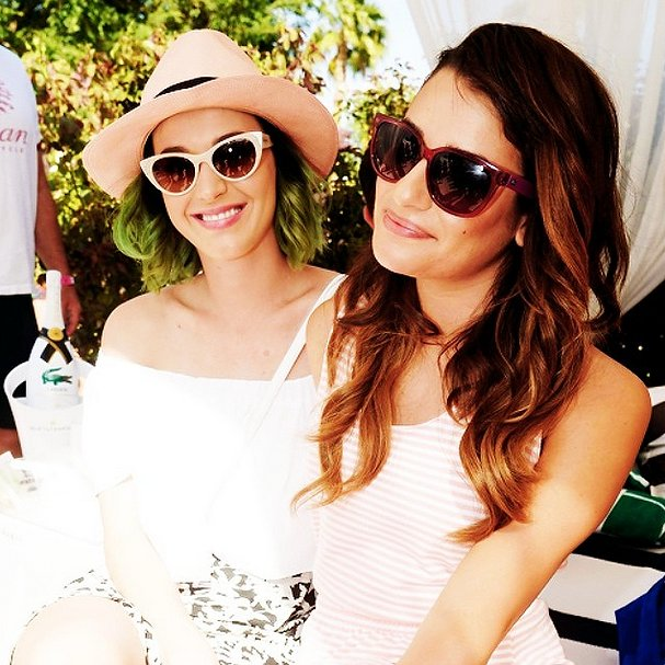 Lea Michele hung out with Katy Perry. Source: Instagram user msleamichele