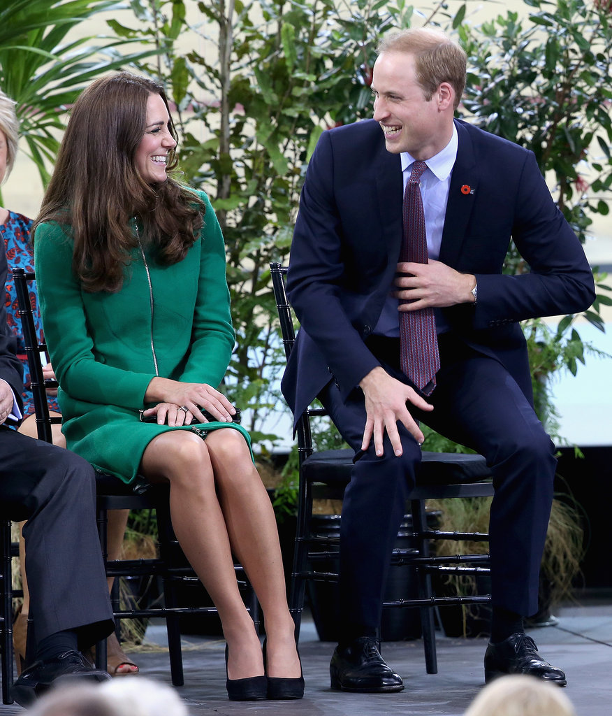 Kate and Prince William exchanged sweet smiles when the visited the Avanti Drome in Hamilton, New Zealand, in April 2014.
