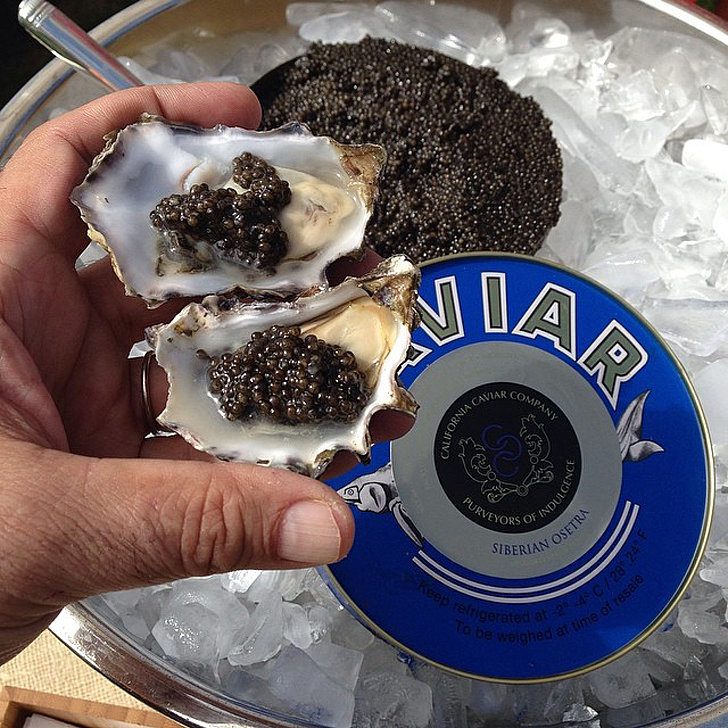 Caviar-Dolloped Oysters