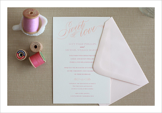Sweet Love Wedding Invitation