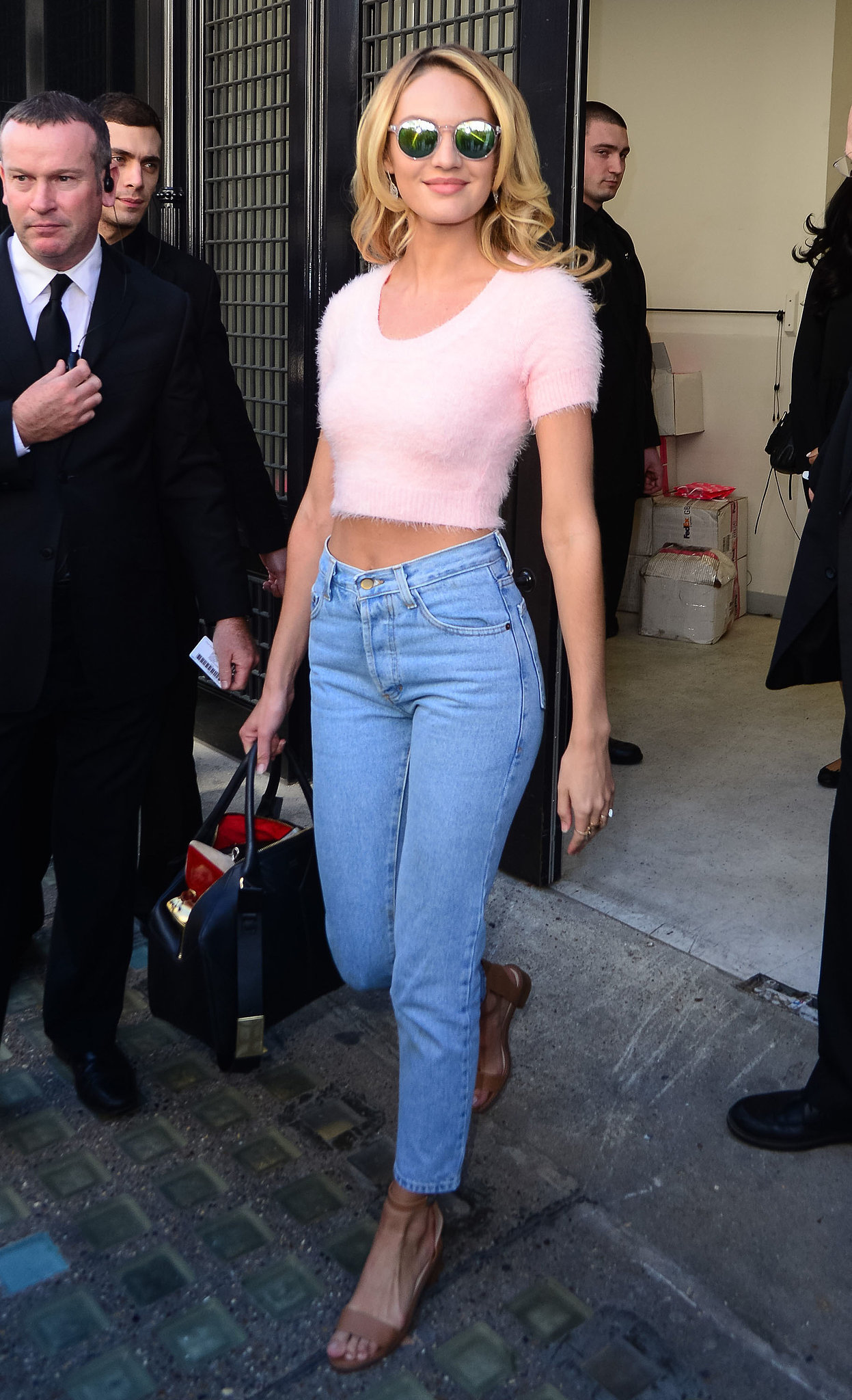 Candice Swanepoel Swings by the Victoria's Secret Store in London