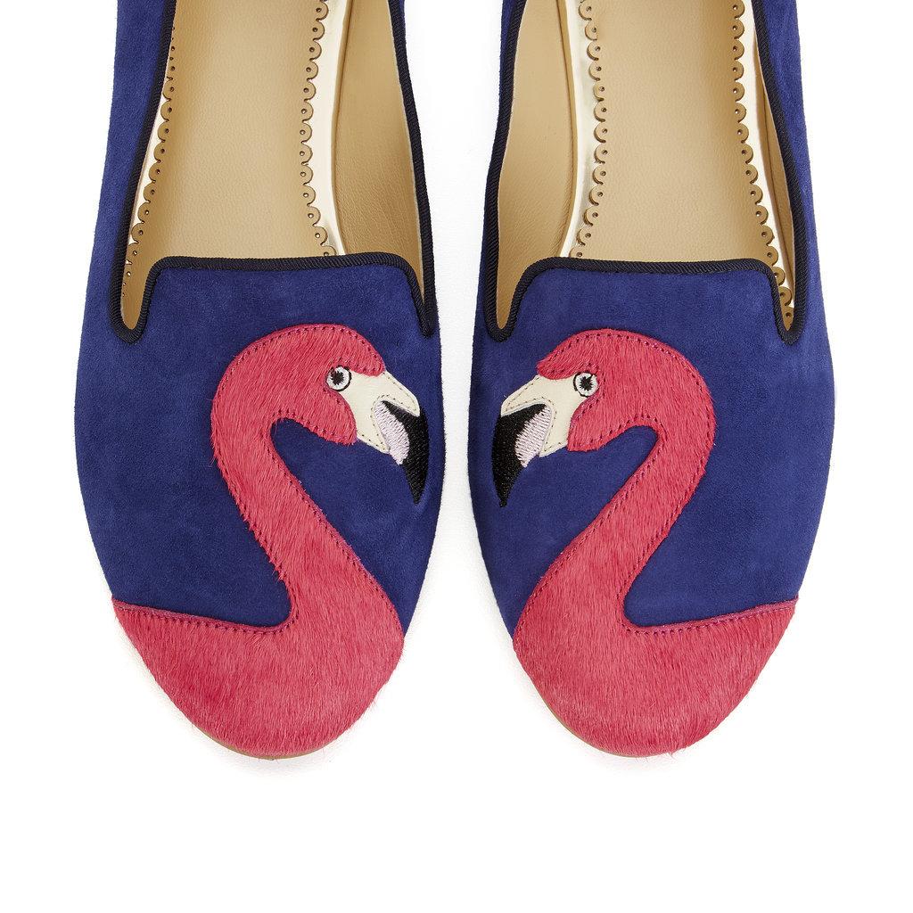 Flamingo Suede Smoking Slippers ($138)