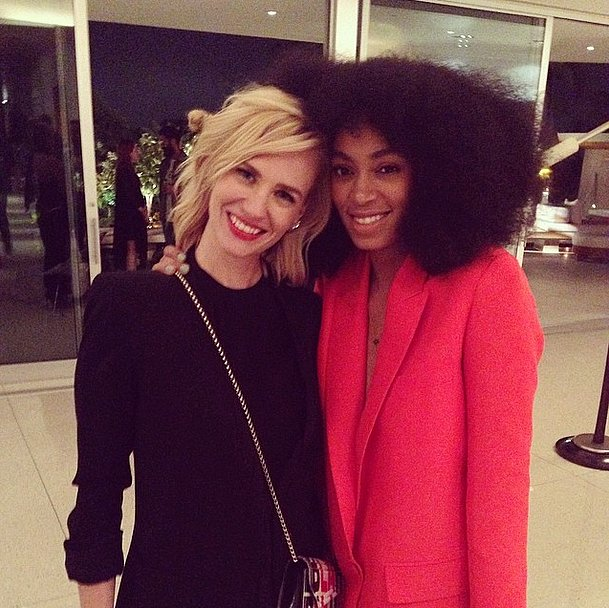January Jones and Solange Knowles
