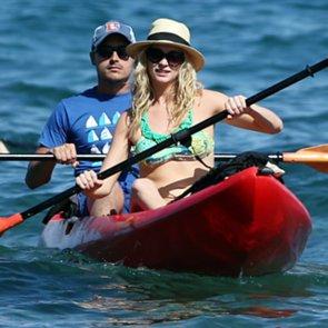 Candice Accola Wearing a Bikini and Kissing Joe King