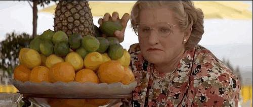 And She Chucks Fruit at Pierce Brosnan For Being All Sexy