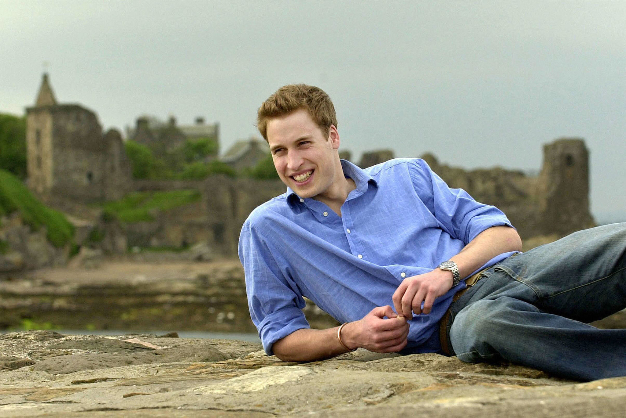 Just your average prince, posing on the sand in front of some ruins.