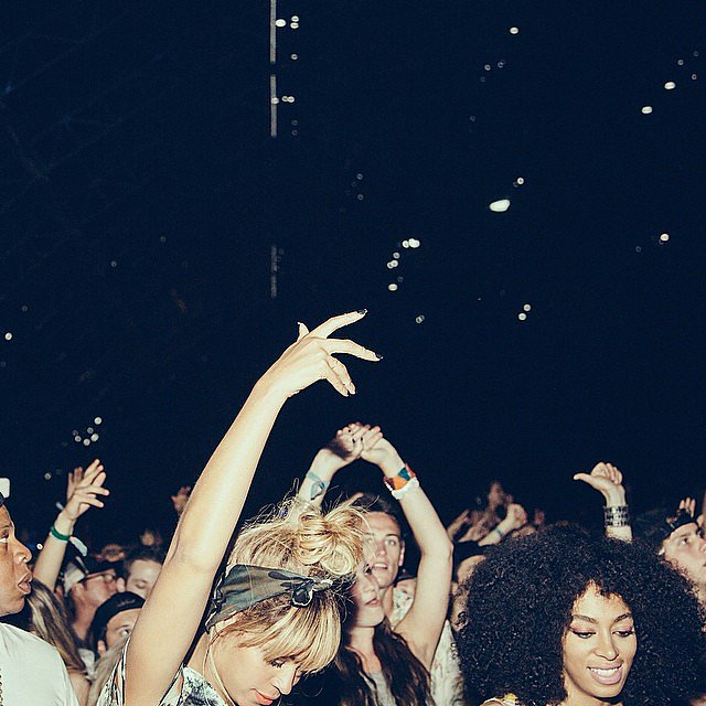 Beyoncé and Solange danced with the crowd. Source: Instagram user beyonce