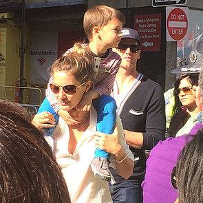 Tom Brady and Gisele at the Boston Marathon