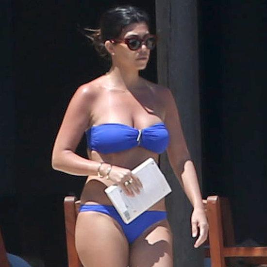 Kourtney Kardashian in a Bikini With Scott Disick