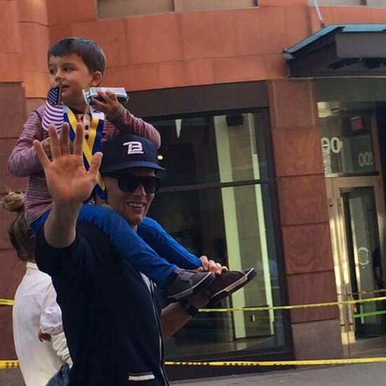 Gisele Bundchen and Tom Brady at 2014 Boston Marathon