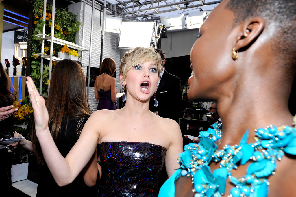 When Jennifer Lawrence Couldn't Even Handle Her Awesomeness