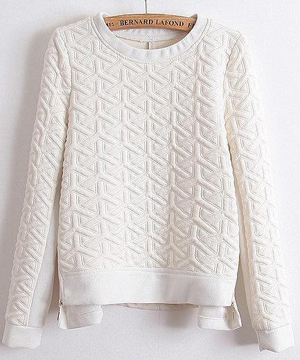 SheInside Textured Sweatshirt