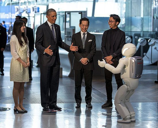 President Obama Plays Soccer With Robot   Video