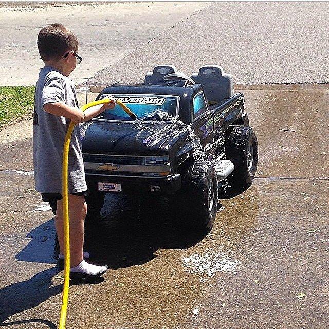 . . . And Washing Cars