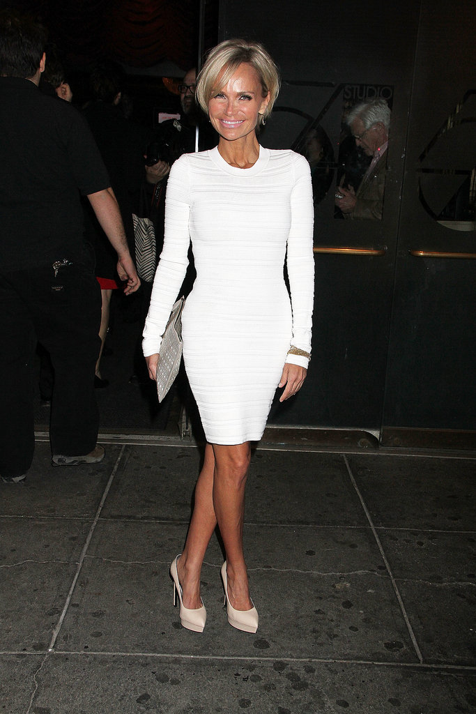 Kristin Chenoweth wore white to the premiere.