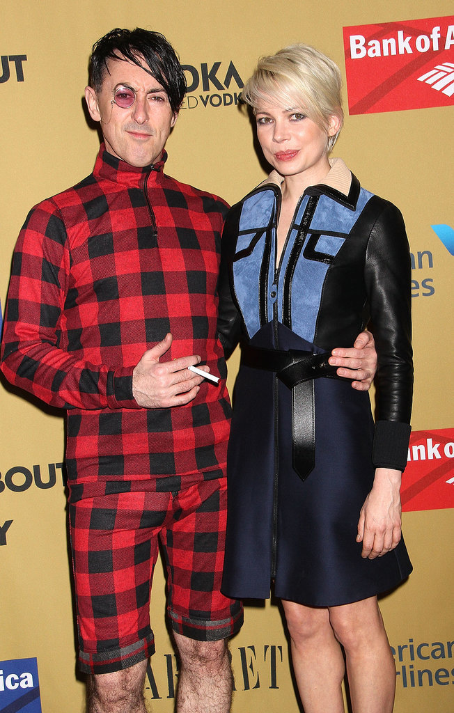 Michelle Williams and Alan Cumming met up on the red carpet for their opening night.