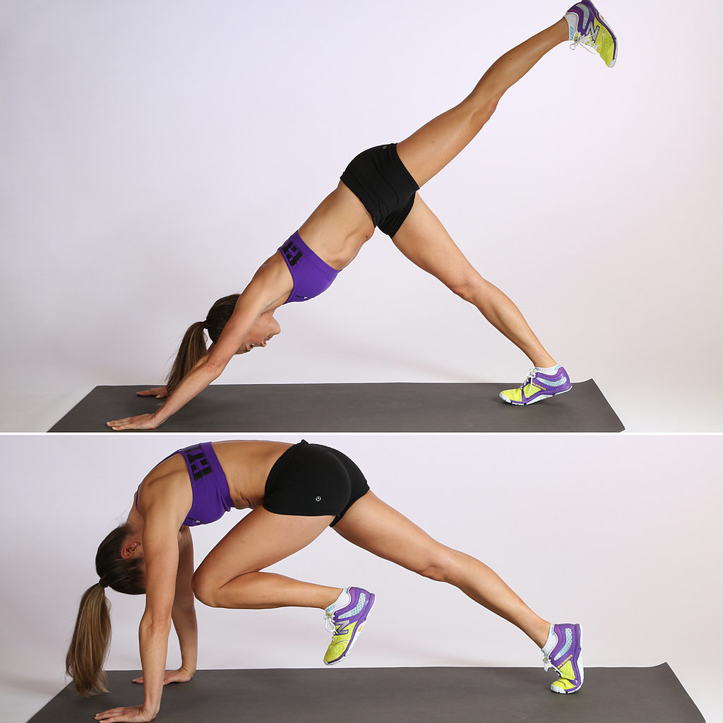 Circuit One: Down Dog Abs — 10 Reps, Each Side