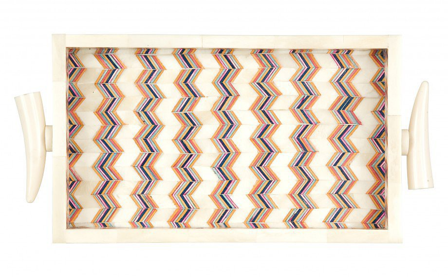 For the mama who has it all, consider giving this Chevron Tray ($95). It can be used to entertain, dress up a vanity, or even styled on a coffee table.