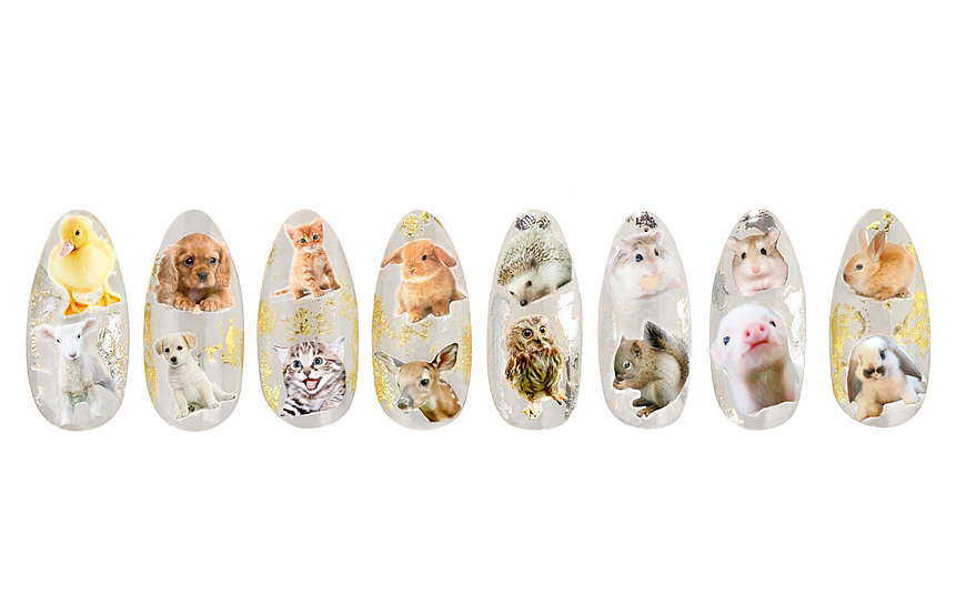 House of Holland For Elegant Touch Kitty Kitsch Nails