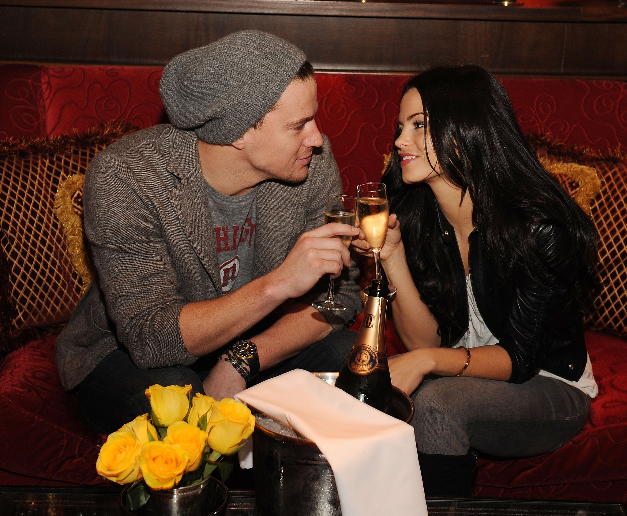 Channing and Jenna toasted with Champagne during a February 2010 visit to Las Vegas.