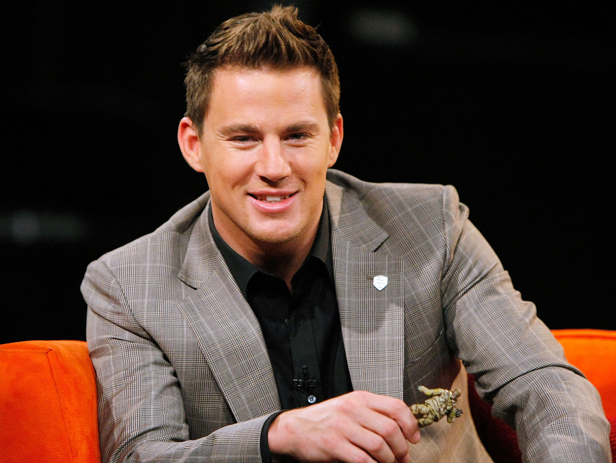 Channing showed off his infectious grin during a chat about his G.I. Joe character in NYC in August 2009.