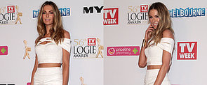 Jennifer Hawkins Nails Red Carpet Midriff at the Logies