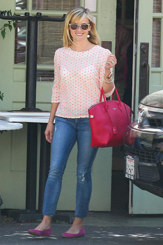 On Saturday, Reese Witherspoon ran errands around Santa Monica.